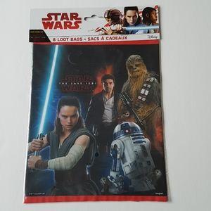 "8 Star Wars Loot Bags 7.25""x9"" in"